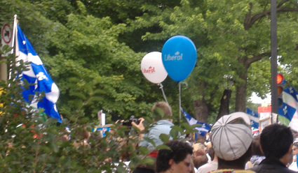 Liberal Party-Luftballons, Fête nationale 2008, Montréal